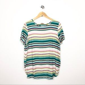 Christopher and Banks striped tunic SZ XL